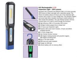 Narva 71460 LED Rechargeable L.E.D Inspection Light ' 200 Lumens
