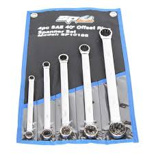 SP Tools SP10185 SP Tools 5pc SAE 40º Offset Ring Spanner Set