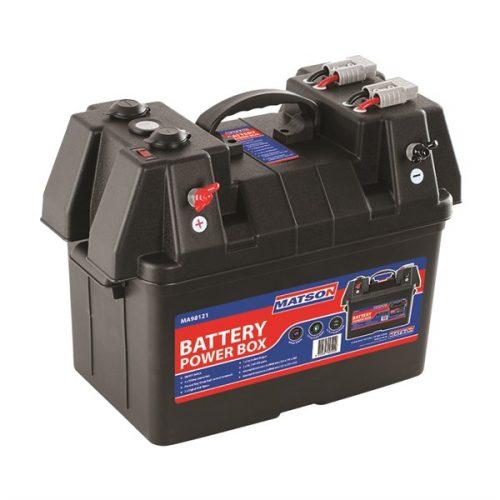 BATTERY POWER BOX AGM Deep Cycle Dual System 12V Isolator USB – MATSON MA98121