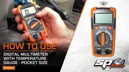 SP TOOLS SP62015 SP Tools Pocket Digital Multimeter with Temperature Gauge