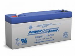 POWERSONIC PS-630 6v 3.5ah AGM VRLA Sealed