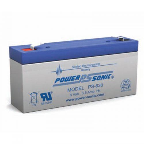 POWERSONIC PS-630 6v 3.5ah AGM VRLA Sealed