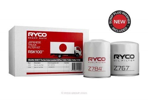 RSK100 Ryco Service Kit ISUZU 4HE1 Various N Series (NPR70/ NPR71/ NQR70)