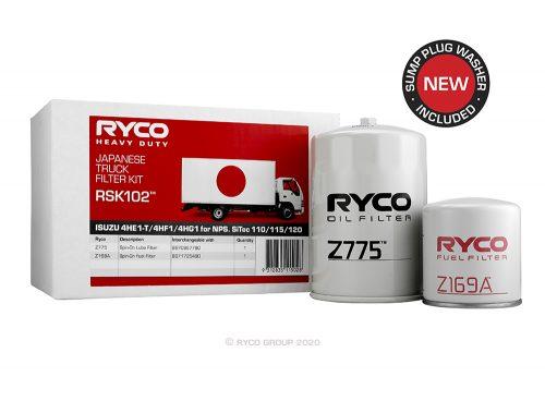 RSK102 Ryco Service Kit ISUZU 4HF1 (NPS66), 4HG1 (NPS71)