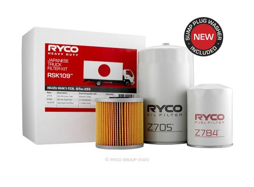 RSK109 Ryco Service Kit ISUZU 6HK1. F Series (FRR34/FSR34/FTR34) to 01/2008