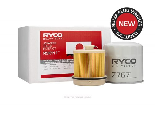 RSK111 Ryco Service Kit ISUZU 4HK1 Engine. N Series (NPR75/NPS75/NQR75)