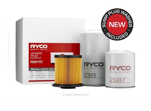 RSK115 Ryco Service Kit HINO Dutro XZU414, 424, 427,434 (S05C)