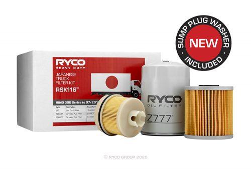 RSK116 Ryco Service Kit HINO 300 Series to 07/2011 (N04C)