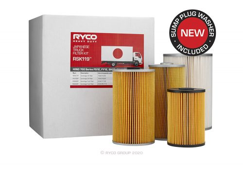 RSK119 Ryco Service Kit HINO 700 Series FS1E, FY1E, SH1E, SS1E (Euro 5)