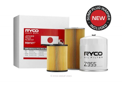 RSK121 Ryco Service Kit HINO 500 Series FC7J, FD7J, FE7J (Euro 5)