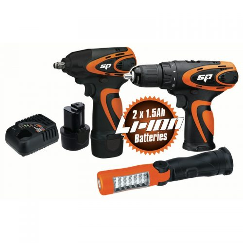 SP TOOLS SP82140 SP Tools 12V 3pc Combo Kit WRENCH/DRILL