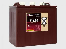 TROJAN DEEP CYCLE BATTERY 6V 240 AH TROJAN T-125 FREE SHIPPING EXCEPT RURAL ADDRESSES