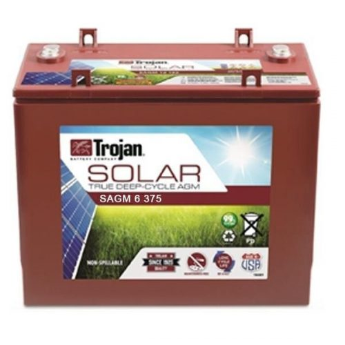 TROJAN SOLAR AGM DEEP CYCLE BATTERY 6V 375 AH TROJAN SAGM 06 375 FREE SHIPPING EXCEPT RURAL ADDRESSES